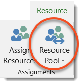 Working with a Resource Pool and distributed project files