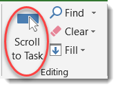 Scroll to task