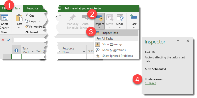 """how to display the """"inspector"""" pane"""