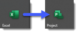 How to convert an Excel Gantt chart into a MS Project plan